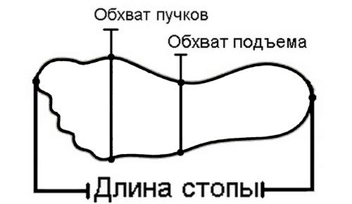 как снять мерки с ноги, измерение ноги, параметры стопы