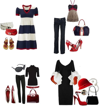 С чем носить красные босоножки и летние туфли b40fb3b58a397