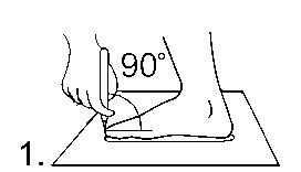 замер ноги, снятие мерки с ноги для пошива обуви