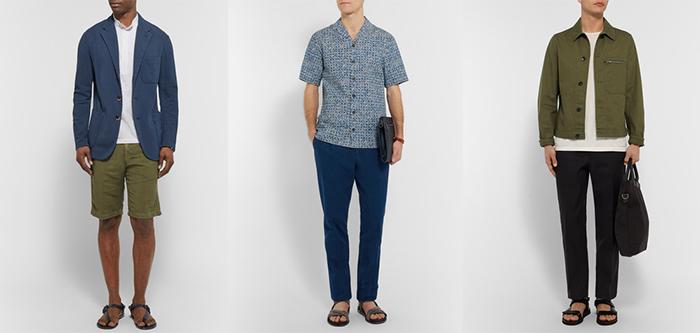 кожаные брюки и вьетнамки