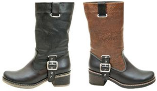 Женские Ботинки В Байкерском Стиле