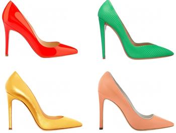 ... модные разноцветные туфли-лодочки 8541cd550ca16