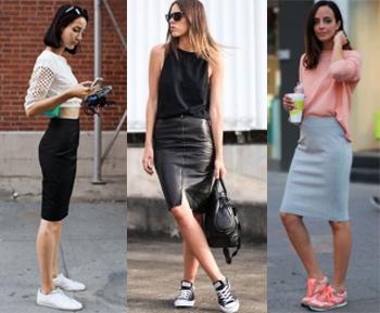С какими туфлями одеть юбку карандаш